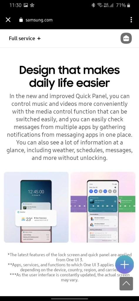 One UI 3.0 features screenshot 2