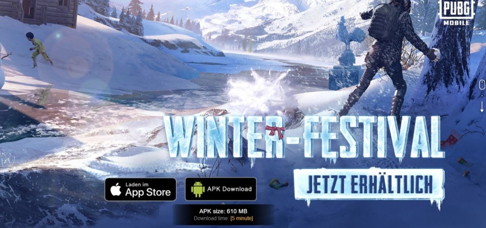PUBG Mobile Frost Festival APK download Winter