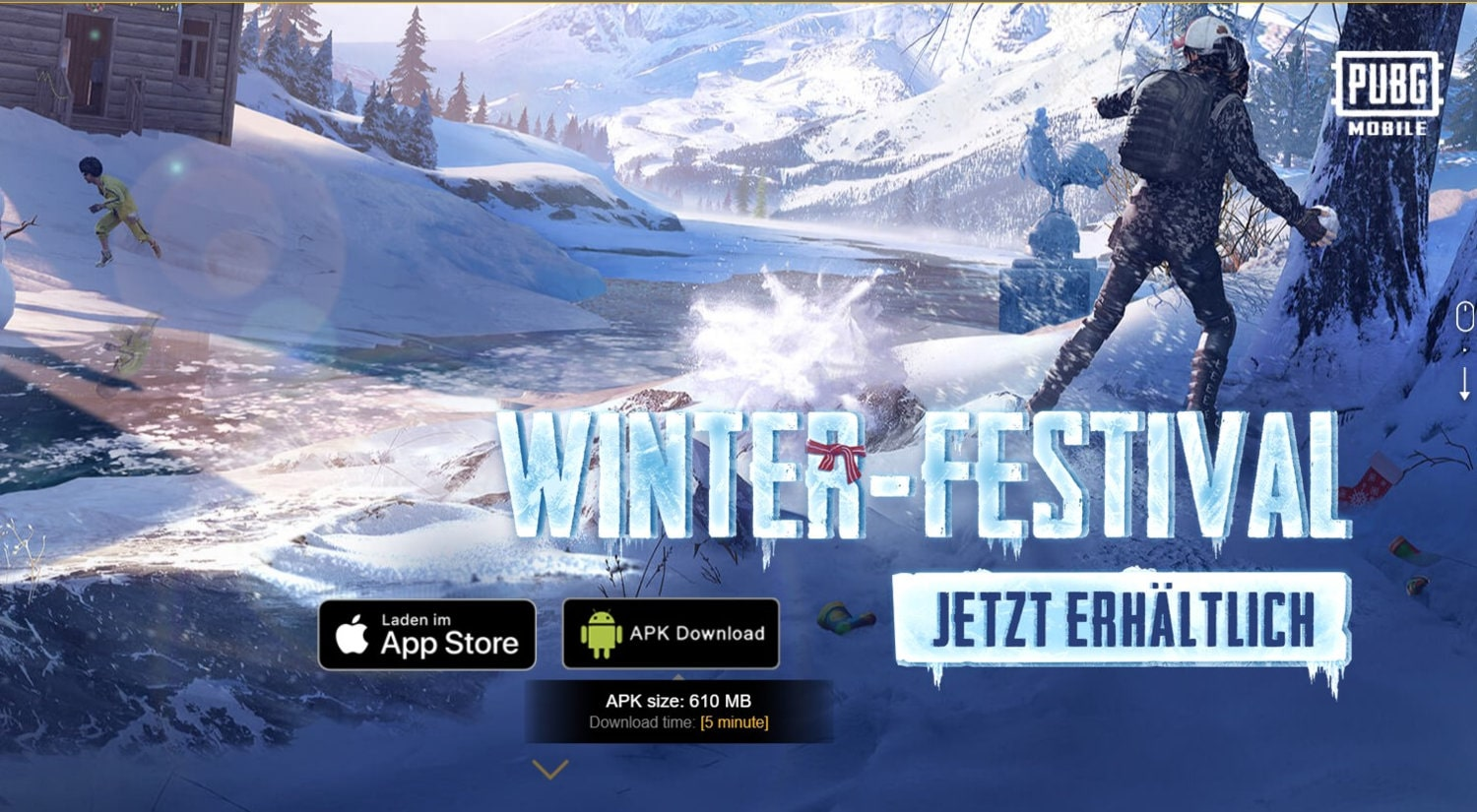 Download PUBG MOBILE Frost Festival v1.1 APK + OBB File Directly From PUBG Servers