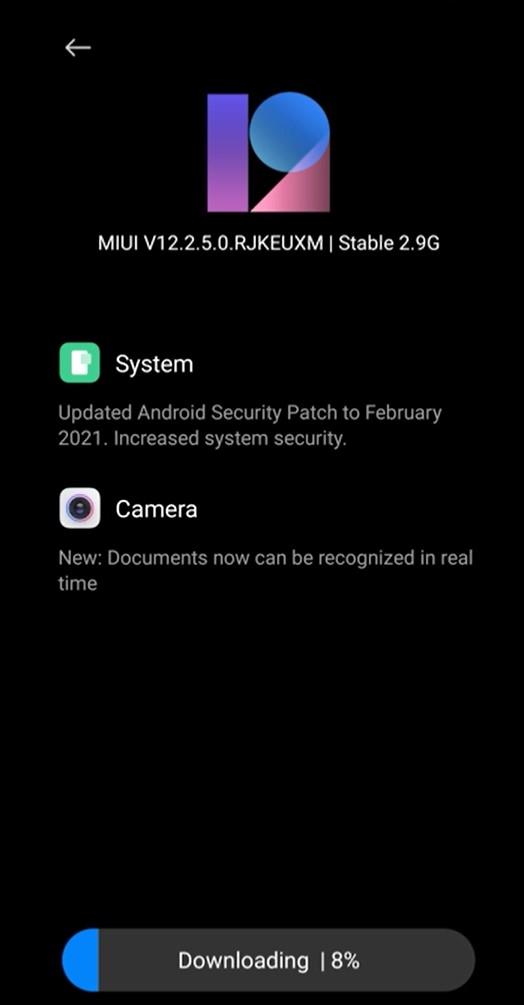 MIUI V12.2.5.0 for Xiaomi Poco F2 Pro