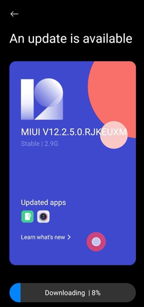 MIUI V12.2.5.0 update for Poco F2 Pro