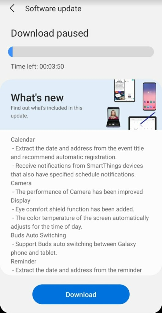 One UI 3.1 update for samsung galaxy s10e