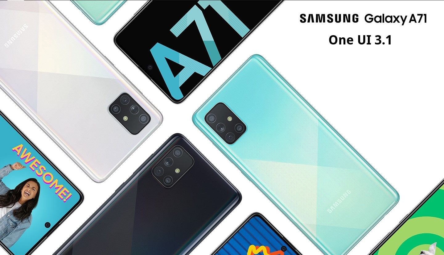 Samsung Galaxy A71 and A50s One UI 3.1