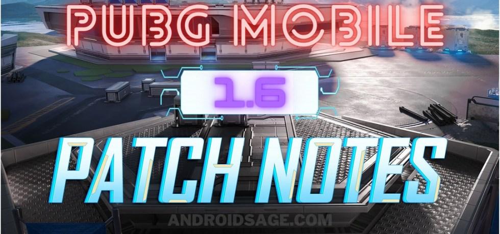PUBG Mobile 1.6 Patch Notes