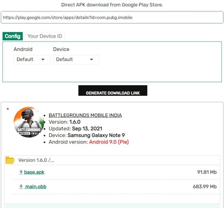 BattleGrounds Mobile India 1.6.5 APK Downloader