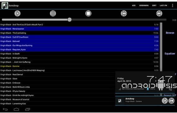 aplicaciones increibles para android armamp music player 1 Aplicaciones increíbles para Android, ArmAmp Music Player