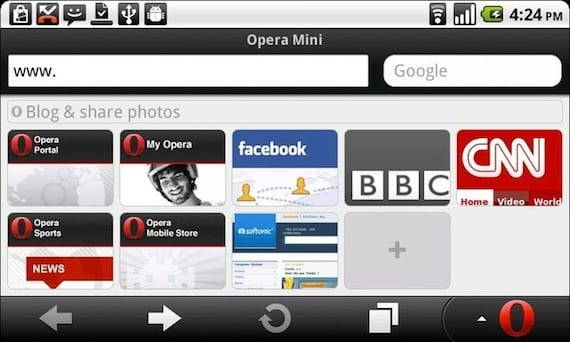 opera mini ¿Qué son los navegadores Mini para Android?