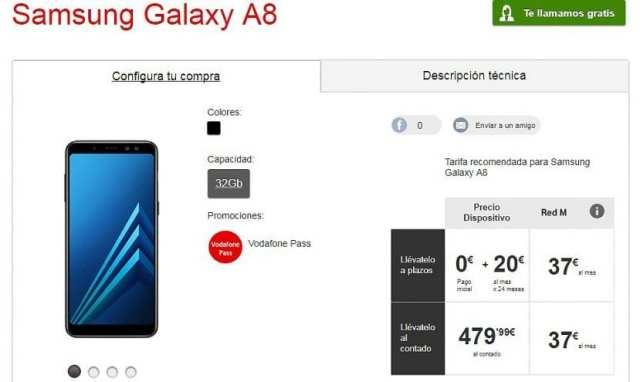 Samsung Galaxy℗ A8 en Vodafone℗ España