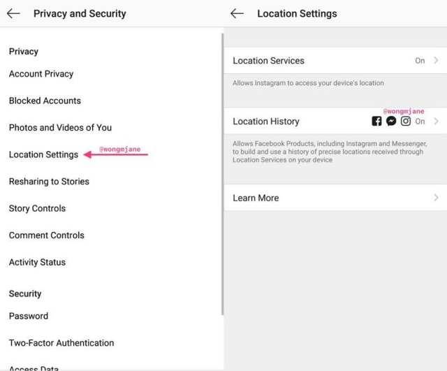 Desactivar historial localizaciones Instagram