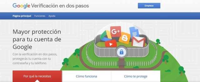 Verificacion en dos pasos Google