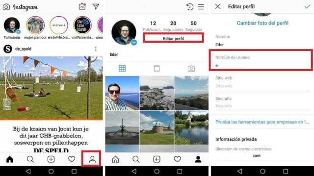 Instagram nombre de usuario