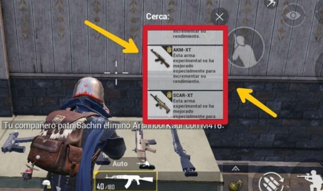 Armas XT en PUBG Mobile
