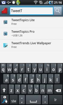 Chomp 3 Chomp, ya para Android. Un motor de búsqueda de Apps.