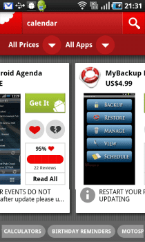 Chomp 8 Chomp, ya para Android. Un motor de búsqueda de Apps.