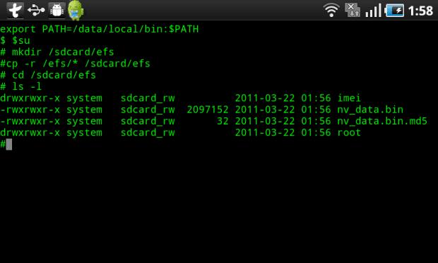 TerminalEmulator 06 Dentro de tu Android hay un Linux. Sácalo con la Consola de Comandos Android Terminal Emulator