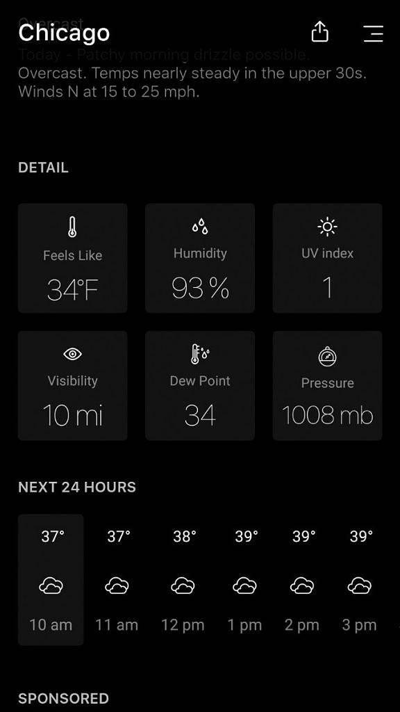 Aplikace android se spousty informací Today Weather [jazyk: CZ]   pocasi android novinky aplikace