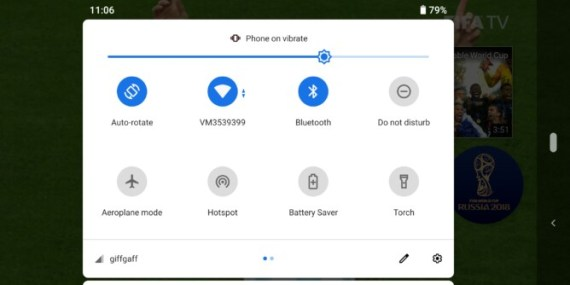 Android pie user interface