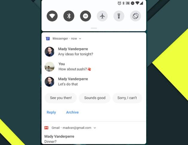 android pie smart replies moto z2