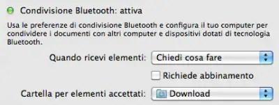 Inviare file via bluetooth a Mac OS