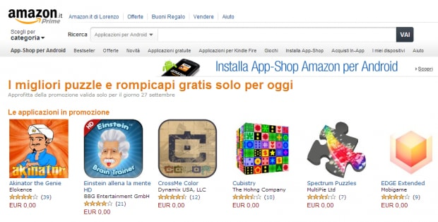 amazon puzzle offerta