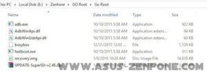 asus zenfone go root folder