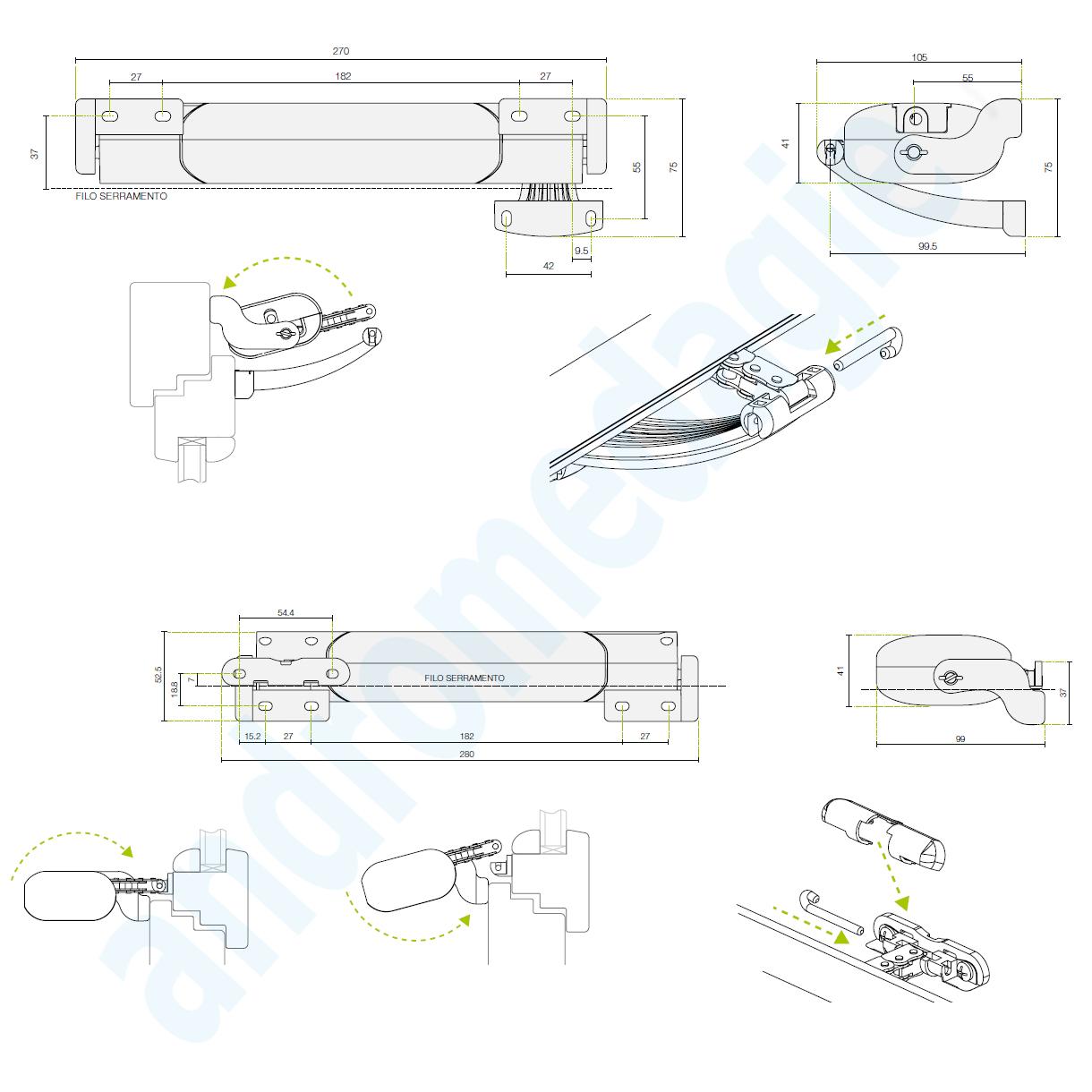 Actuator Smart Electric Window Openers Chain Top Bottom