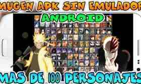 Descarga Jump Super Stars MUGEN apk sin Emulador para Android