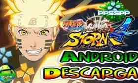 Naruto Shippuden Ultimate Ninja Storm 4 PSP Mod para Android