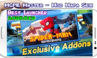 MCPE Master Mod Mapa Skin for Android