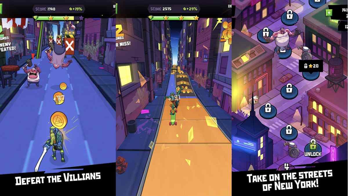 Rise of the TMNT Ninja Run para Android descarga gratis apk