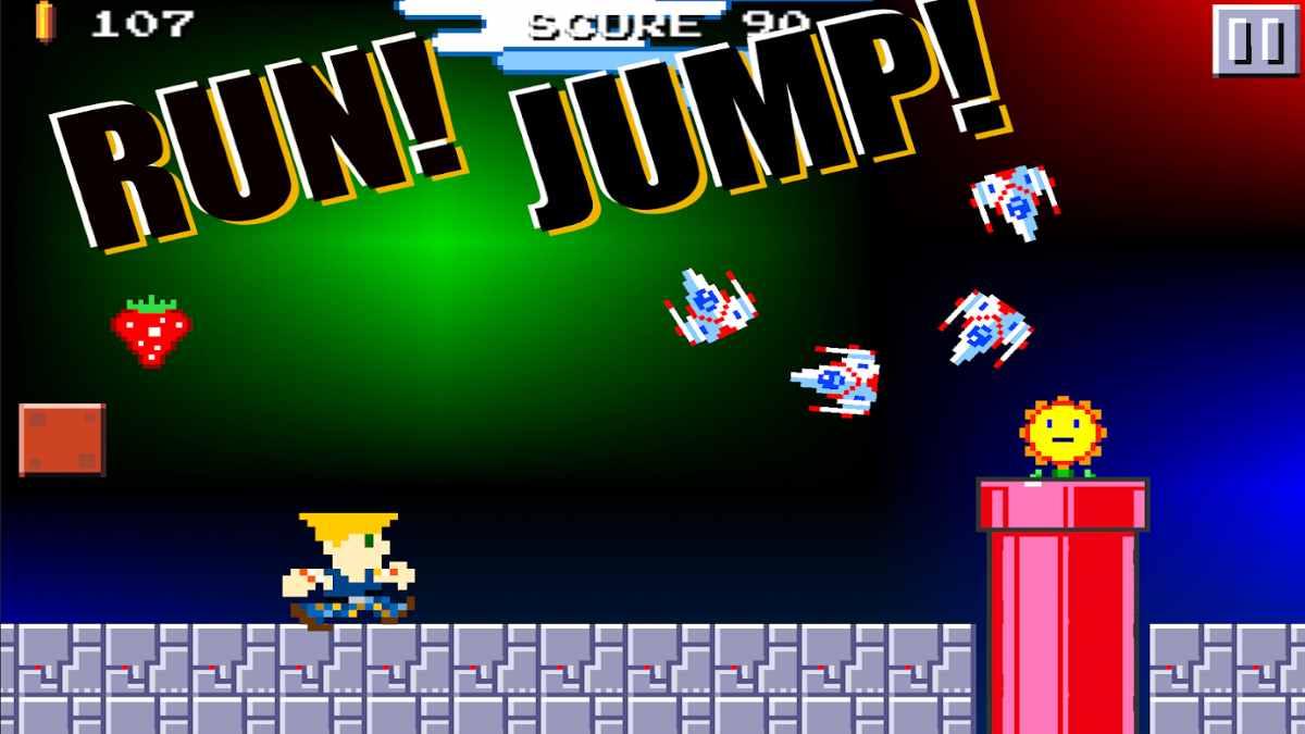 Super Mega Runner apk Las aventuras del fontanero