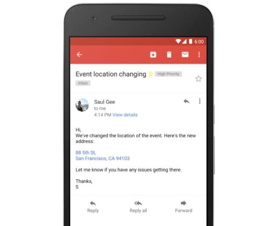 Gmail أصبح يدعم الروابط المباشرة للتطبيقات و خدمات قوقل الأخرى