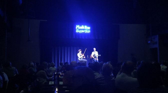 Music Box Supper Club (Cleveland, OH) with Tom Brosseau — video and photo by Roger Zender