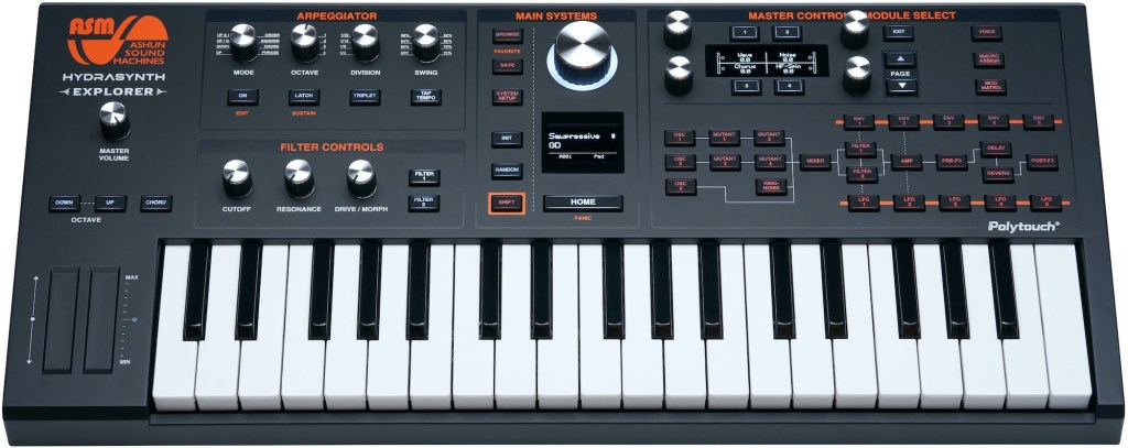 Ashun Sound Machines (ASM) announces Hydrasynth Deluxe and Hydrasynth Explorer keyboard synth sensations