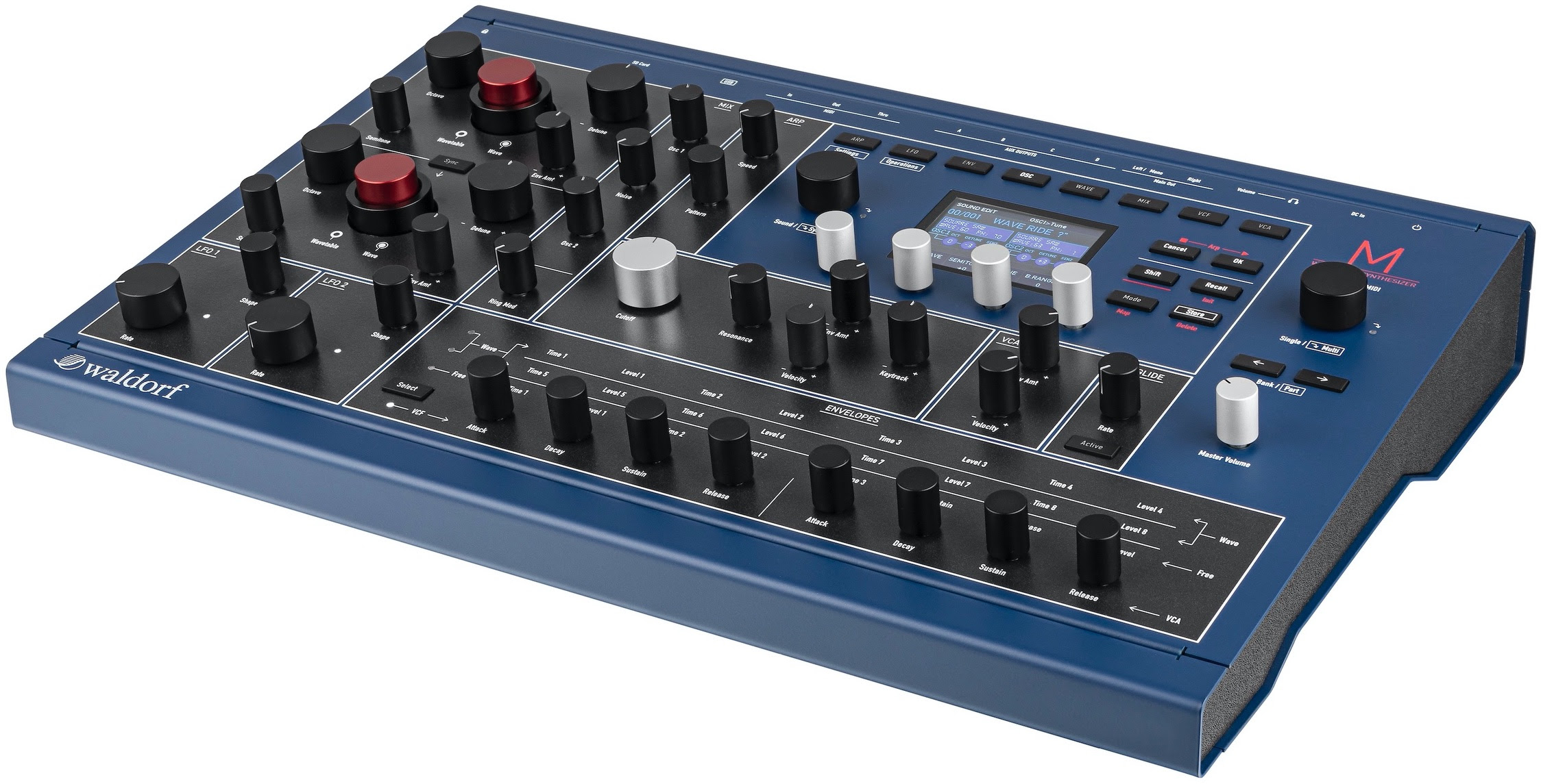 Waldorf brings back classic Microwave and 'modern' Microwave II tone generation to new-generation M wavetable synthesizer