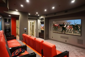 Custom Red Home Theater