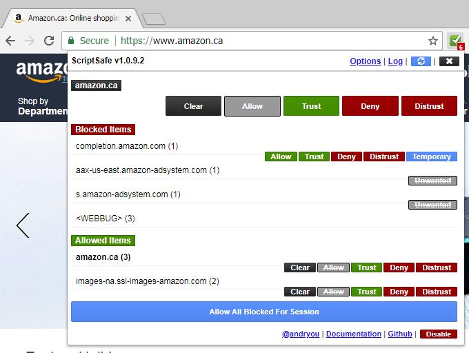 Script Safe Browser Extension