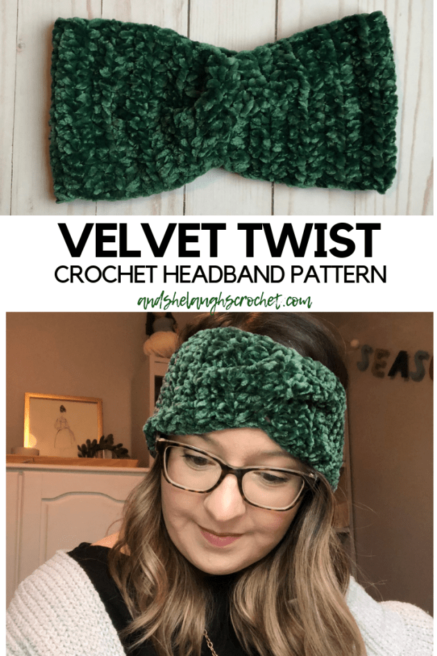Velvet Twist Crocheted Headband And She Laughs Crochet