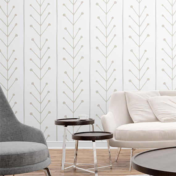 25 Apartment-Changing Wallpapers from Etsy - andthebee