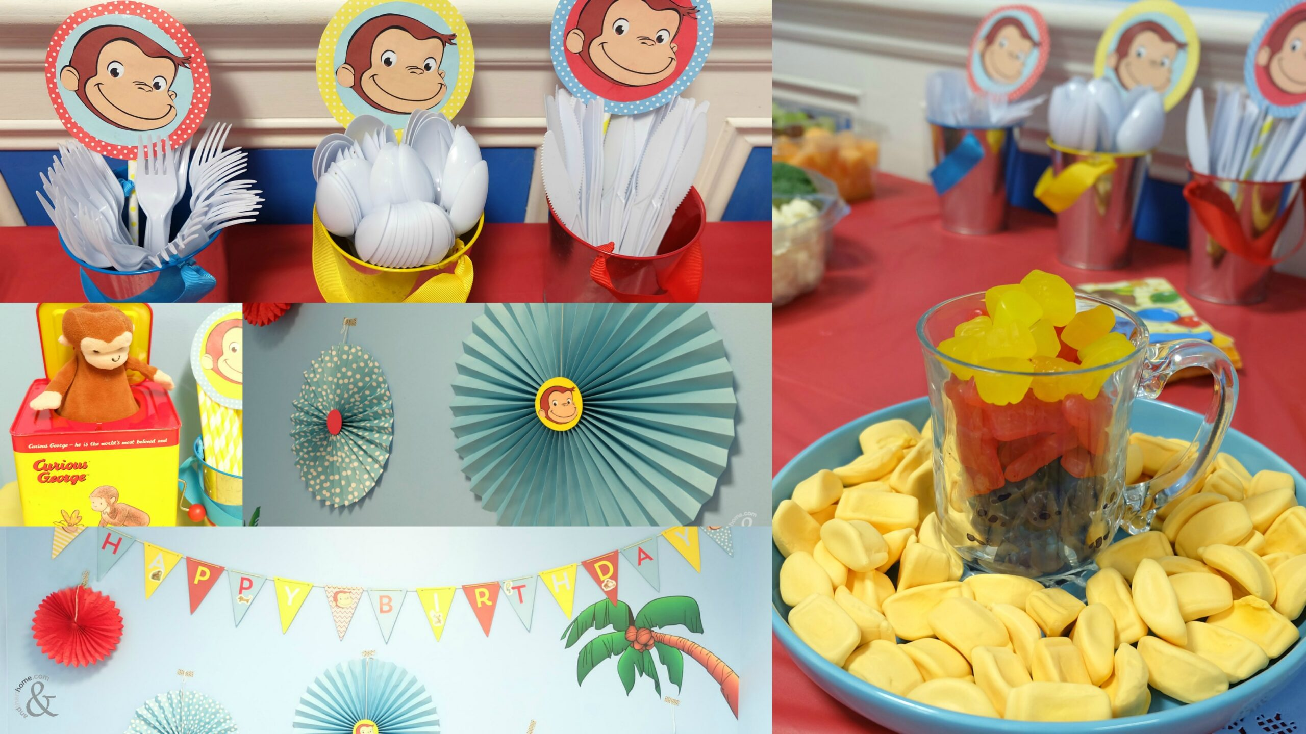Diy Curious George Themed Birthday Party And Then Home