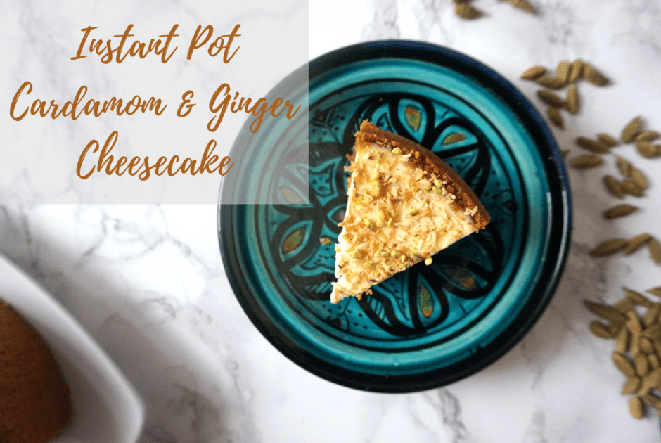 instant pot cardamom and ginger cheesecake