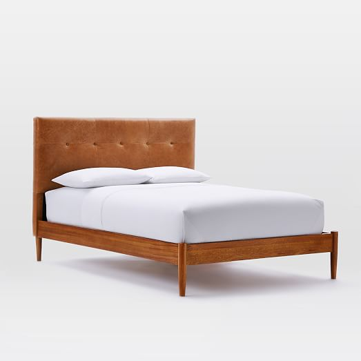 West Elm Inspired DIY Leather Tufted Headboard And Then We Tried