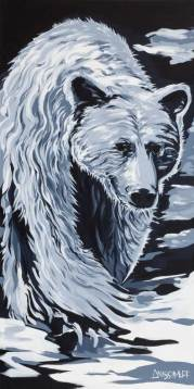 Spirit Bear, size 24x48 in., canvas giclée print available in size L1,L2
