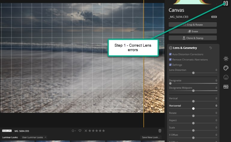 Luminar Workflow - Step 1
