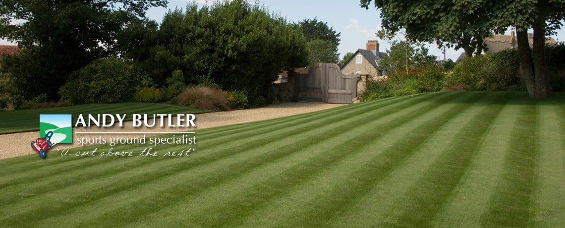Fine lawns and domestic grounds maintenance from Andy Butler Sports Ground Maintenance