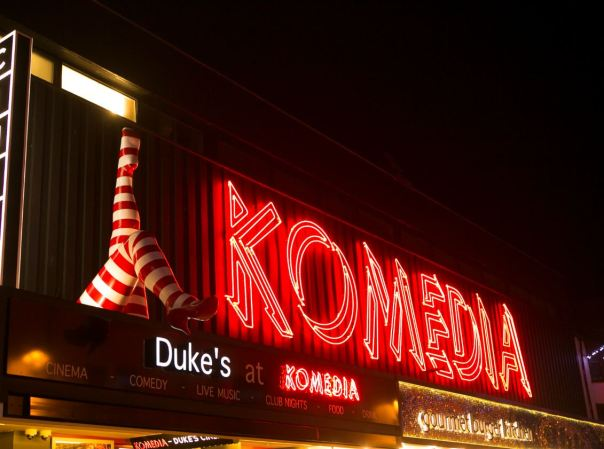 Iconic Komedia Lit By Andy Doig Neon