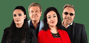 Голос 60 плюс наставники Елена Ваенга, Тамара Гвердцители, Лев Лещенко и Гарик Сукачёв