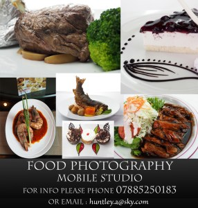 Food professionally photographed on your own premises