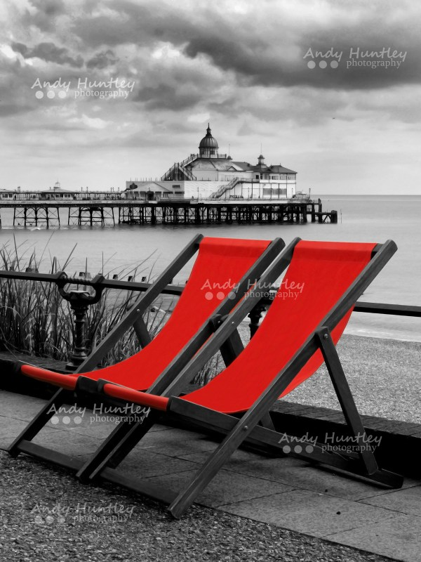 Deck chairs by Eastbourne Pier