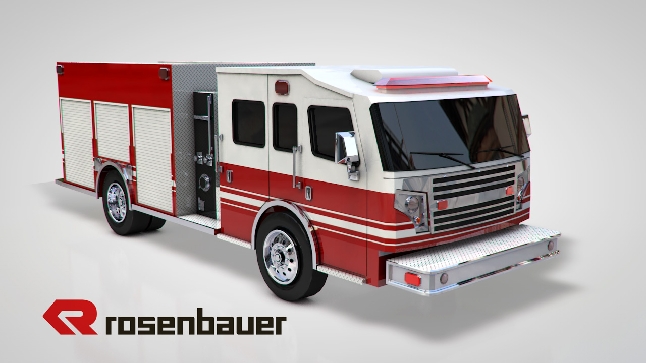 client rosenbauer low poly 3d model created for augmented reality